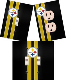 Pittsburgh Steelers light switch wall plate custom covers man cave room decor #HandMade