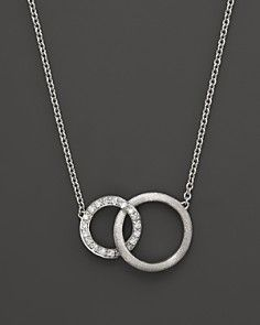 """Marco Bicego Diamond Jaipur Link Necklace in 18K White Gold, .14 ct. t.w., 16.5"""""""
