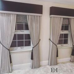 Another gorgeous combination for a fantastic client of Roman Blinds, Floor Length Curtains, Tie backs and matching Pelmets all by Ellis Hyde. Vertical Window Blinds, Blinds For Windows, Curtains With Blinds, Gypsy Curtains, Curtain Pelmet, Pelmet Box, Cornices, Valances, Window Pelmets