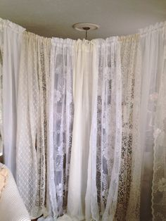 Stunning Lace Wedding Backdrop 10 ft Wide by DenaDanielleDesigns, $74.99 Great for event backdrops but gorgeous as home decor as well. Room divider, headboard, window curtains, shower curtain, ect.