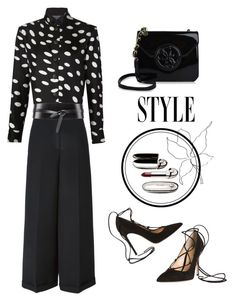 """""""B&W STYLE"""" by jacque-reid ❤ liked on Polyvore featuring moda, Emanuel Ungaro, Valentino e Isabel Marant"""