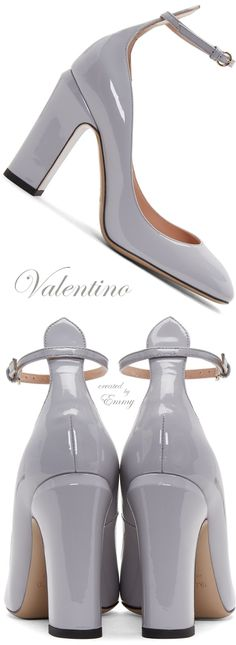 Brilliant Luxury ♦ Valentino Grey Tango Mary Jane Heels
