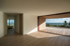 Change in materials/colors to transition from interior to exterior/divide spaces Montauk House, Long Island USA 2009- 2013 by John Pawson
