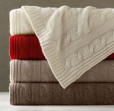 Cashmere cable knit throw. Yes please.