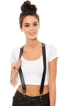 The In Goth We Trust Leather Suspenders by Harlett use rep code: OLIVE for 20% off!
