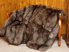 Indigo Fox Fur blanket