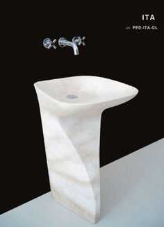 pedestal washbasin limestone Pedestal, Natural Stones, Living Spaces, Bathrooms, Marble, Minimalist, Home Decor, Products, Decoration Home