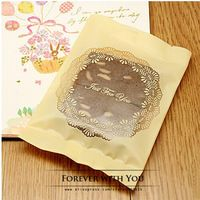 2014 FREE SHIPPING yellow bowknot lace bakery food bags for biscuit cookie bakery food packaging 50pc/lot 11cm*15cm