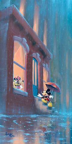 """Welcome Home Mickey"" by Rob Kaz Mickey And Minnie Love, Mickey Mouse And Friends, Mickey Minnie Mouse, Minnie Mouse Pictures, Disney Pictures, Disney Fine Art, Disney Paintings, Cute Disney Wallpaper, Walt Disney World Vacations"