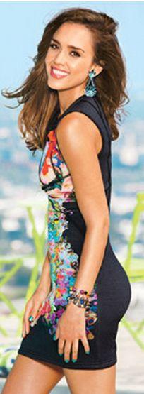 Jessica Alba wearing Cynthia Rowley