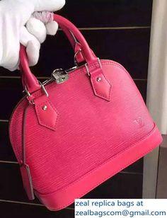 Louis Vuitton EPI Leather Alma BB Handbags M54547 Hot Pink 2017