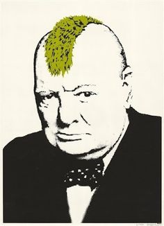 Banksy <i>Turf War</i> (2003)<br> Photo: courtesy Joseph Fine Art