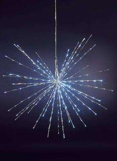 LED-Leuchtstern 100 cm Ø für außen silber/kaltweiße LEDs