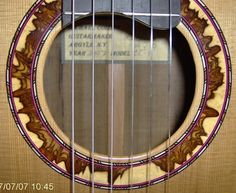 Michael Collins Guitars desert ironwood rosette