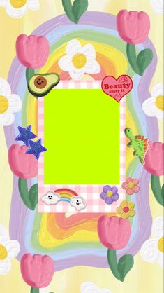 Cute Pastel Wallpaper, Cute Patterns Wallpaper, Iphone Wallpaper Vsco, Aesthetic Iphone Wallpaper, Aesthetic Template, Aesthetic Stickers, Cute Backgrounds, Cute Wallpapers, Frame Template