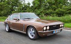 JIA has created a thoroughly, classy modernisation of the Interceptor, with the supercharged version dispatching big power with impressive ease Classic Cars British, British Car, Jensen Interceptor, Cars Uk, Gt Cars, Classic Motors, Vintage Cars, Vintage Models, Retro Cars