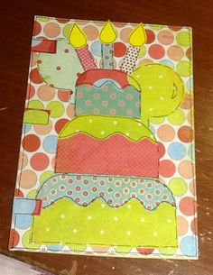 Bday card diy scrapbook card