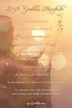 2016 Goddess Manifesto
