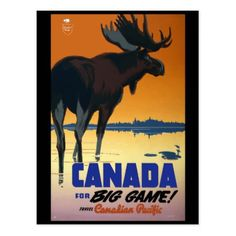 #Vintage Travel Canada Postcard - #country gifts style diy gift ideas