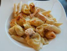 Salmon cream gratin with tortellini - recipe by Peter Witt Tortellini Recipes, Pasta Salad, Macaroni And Cheese, Salmon, Pampered Chef, Cream, Ethnic Recipes, Witt, Food