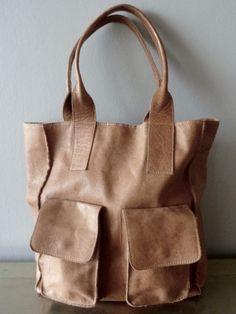 Reserved Brown Paper Lunch Bag tanned vintage leather artisanal large shoulder…