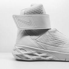 rhubarbes: Nike Swoosh Hunter More sneakers here. Men's Shoes, Nike Shoes, Shoe Boots, Shoes Sneakers, Sneakers Design, Footwear Shoes, Sports Footwear, Sports Shoes, Air Mag