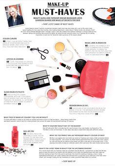 Lizzie Dawson Make Up - topshop - layout