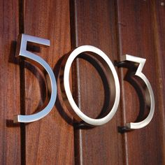 Great Finds Modern House Numbers on the Cheap Modern House and