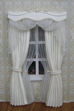 Miniature 112 Dollhouse curtains on order by TanyaCurtains on Etsy, $45.00