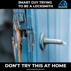 Don't try this at home, Instead, give us a call and we will provide you the best Locksmith Solutions at your Doorstep. - #AllInOne #Locksmith #locksmithtampa #tampalocksmith #locksmithservice #securelocksmith #emergencylocksmith