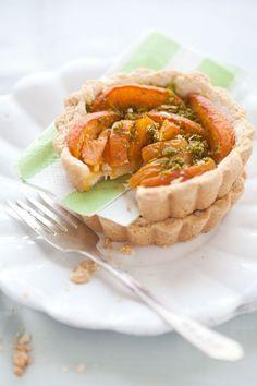 Apricot, Pistachio and Lemon Shortbread Tart :: Cannelle et Vanille