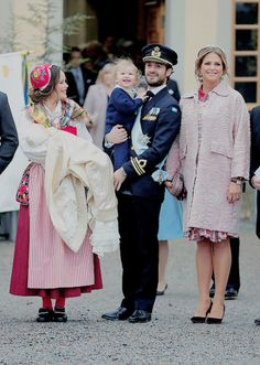"thecambridgees:  """" Prince Carl Philip, Prince Alexander, Princess Sofia, Prince Gabriel and Princess Madeleine at the christening of Prince Gabriel of Sweden at Drottningholm Palace Chapel on December 1, 2017 in Stockholm, Sweden. "" """