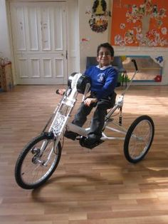 The world's only Carer Controlled, Hand Propelled Tricycle!