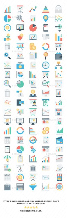 #Market and #Economics Color Vector #Icons - Business Icons