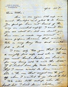 """""""We were both asleep when the boat hit""""  On April 24th of 1912, 24-year-old John Snyder wrote the following letter to his father, Frank, and recalled the night of April 14th; an altogether tragic night that saw him and his wife, Nelle, escape the RMS Titanic following its collision with an iceberg."""