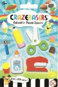 Collectible Puzzle Erasers Crazerasers. Desk Set Series 2. 4 Pieces Set. by Fashion Angels. $10.01. Ages 6 and Up. Eco Friendly: No PVC and Safety Tested. Take apart, developmental puzzles