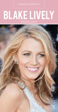 Though there were more stunning beauty looks at Cannes than we could count, Blake Lively's bronze bombshell look at the Mr. Turner premiere stood out above the rest. Perhaps it was her perfect, Blake Lively Makeup, Blake Lively Hair, Beauty Makeup, Hair Makeup, Hair Beauty, Glow Makeup, Bridal Makeup, Wedding Makeup, Get Blake