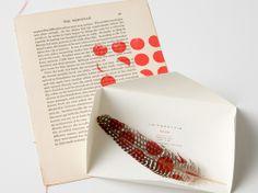 goccoed feather invitation for a leifsdottir show, Fashion Week 2009