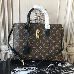 d0c67238736a Louis Vuitton M43550 Flower Tote Monogram Canvas Noir Louis Vuitton Boots
