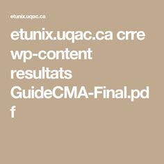 etunix.uqac.ca crre wp-content resultats GuideCMA-Final.pdf Pdf, Content
