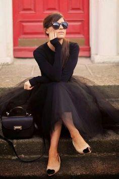 TopVintage Boutique Collection Fairytail Satin Bow Mesh Ballet Skirt Black model 122 10 15304 20150702 3W
