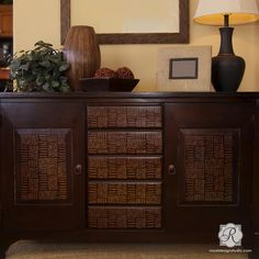 Painted Furniture Projects with Modern Stencil Designs - Royal Design Studio