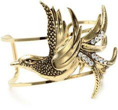 Yochi Clear Crystal Bird on Open Cuff Bracelet Yochi. $60.00. Made in USA