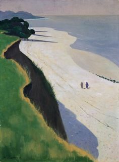 Vallotton: The Cliff of the Greve Blanche, Vasouy (1913) Private Collection