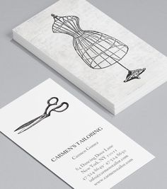 Get me to the ball: Business Cards for fashion designers and professional dressmakers let potential clients know you're half design, half industry. Illustrations from a golden age of dressmaking is a beautifully striking image that lets clients know you've got the skill for the job. #moocards #businesscard