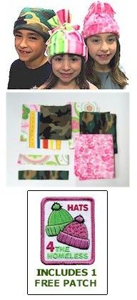 Hats for the Homeless complete kit to help you with your scouting project. Go to www.makingfriends.com for lots of scout ideas and supplies.