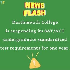 ❗️📣Check out our #CollegeAdmissions Blog for more #admissions #testing updates (link in bio)! #AspireApplyAchieve #CollegePrep #SATtest #ACTtest #Dartmouth #HigherEd Act Testing, Dartmouth College, College Admission, First Year, Acting, How To Apply, Link, Blog, Check