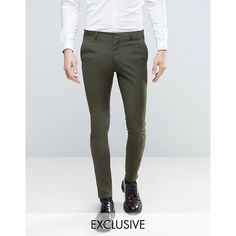 Heart & Dagger Super Skinny Suit Pants In Khaki (99 CAD) ❤ liked on Polyvore featuring men's fashion, men's clothing, men's pants, men's dress pants, green, mens green dress pants, mens green pants, mens stretch dress pants, mens green khaki pants and mens tall khaki pants