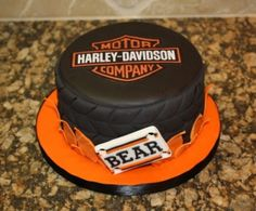 Bear's Harley Davidson Cake By CakesbyDusty on CakeCentral.com