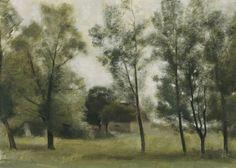 Vilhelm Hammershøi (1864-1916 Danish) • Landscape - Gundsømagle bei Roskilde
